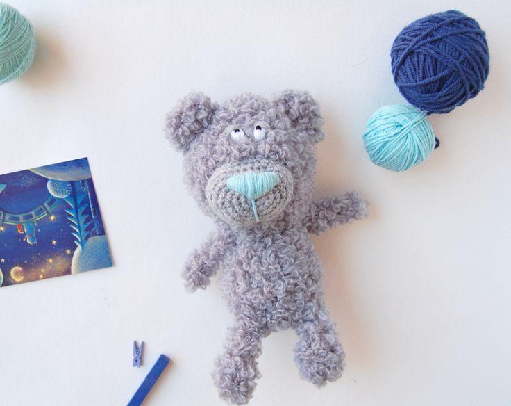 Crochet Bear toy amigurumi stuffed animal toy for kids, teddy bear from RomeoToys