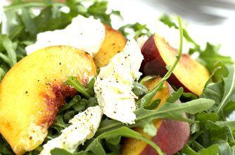 Mozzarella, peach and rocket salad recipe - goodtoknow