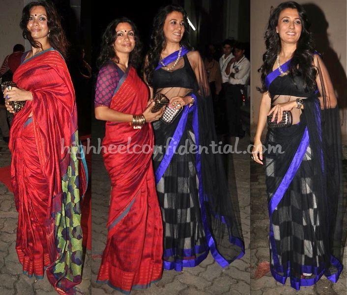 maria's saree/blouse combination