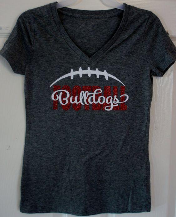 Custom Football T-shirt Long sleeves Sweatshirt by GlitterMomz
