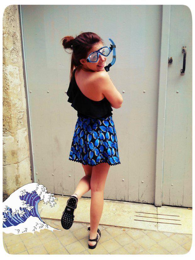 Couture/Sewing / HIGHWAIST SHORT : Skirt effect