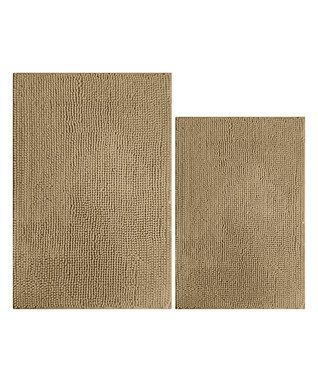 Tan Popcorn Bathroom Rug Set