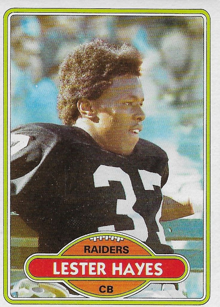1980 topps lester hayes rookie 195 oakland raiders