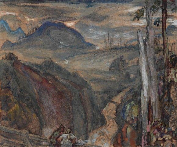 Frederick Varley Bridge Over Lynn Canyon - 1933