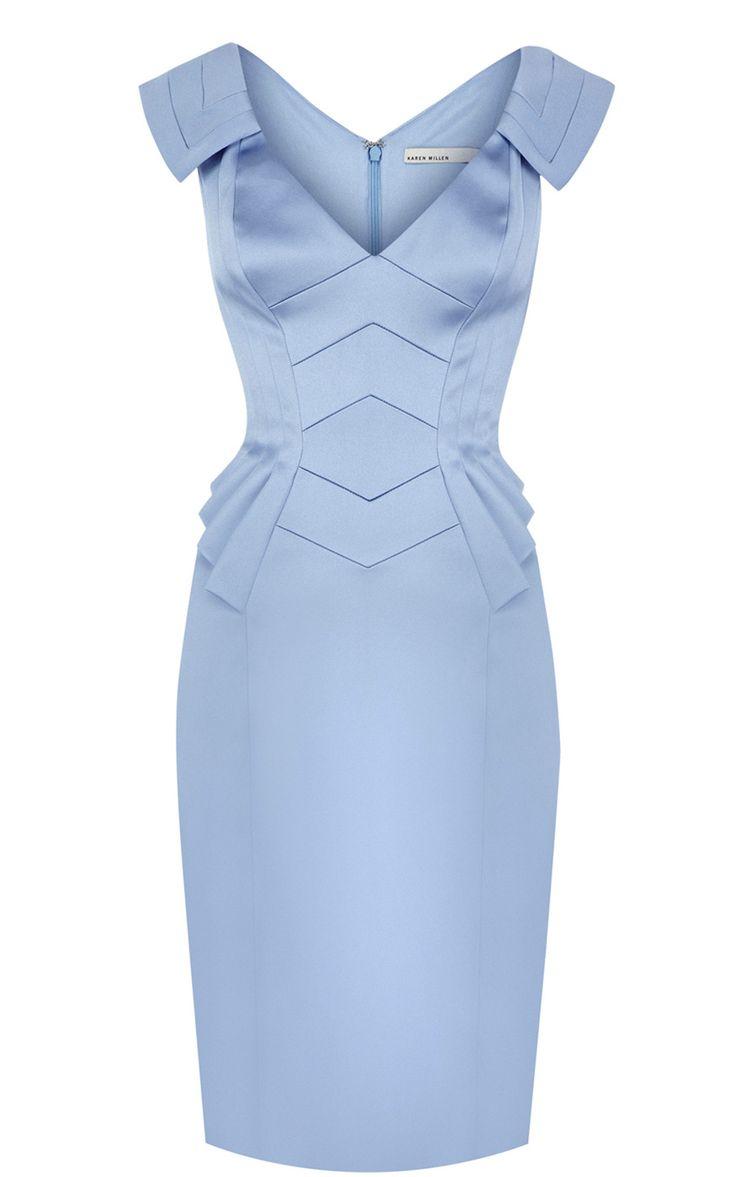 Karen Millen Peplum Dress Blue ,fashion Karen Millen Solid Color Dresses outlet