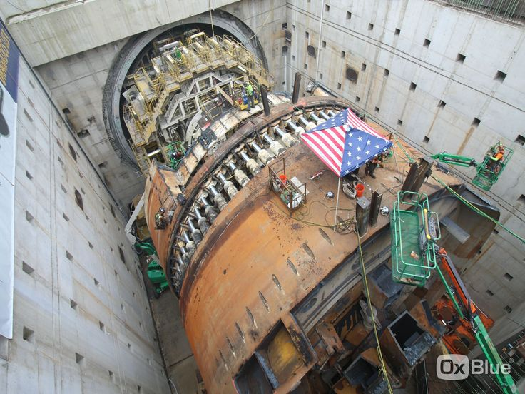 Bertha a 57-foot-diameter tunnel boring machine being disassembled after boring a 1.7 mile long highway tunnel under downtown Seattle [4000  3000]