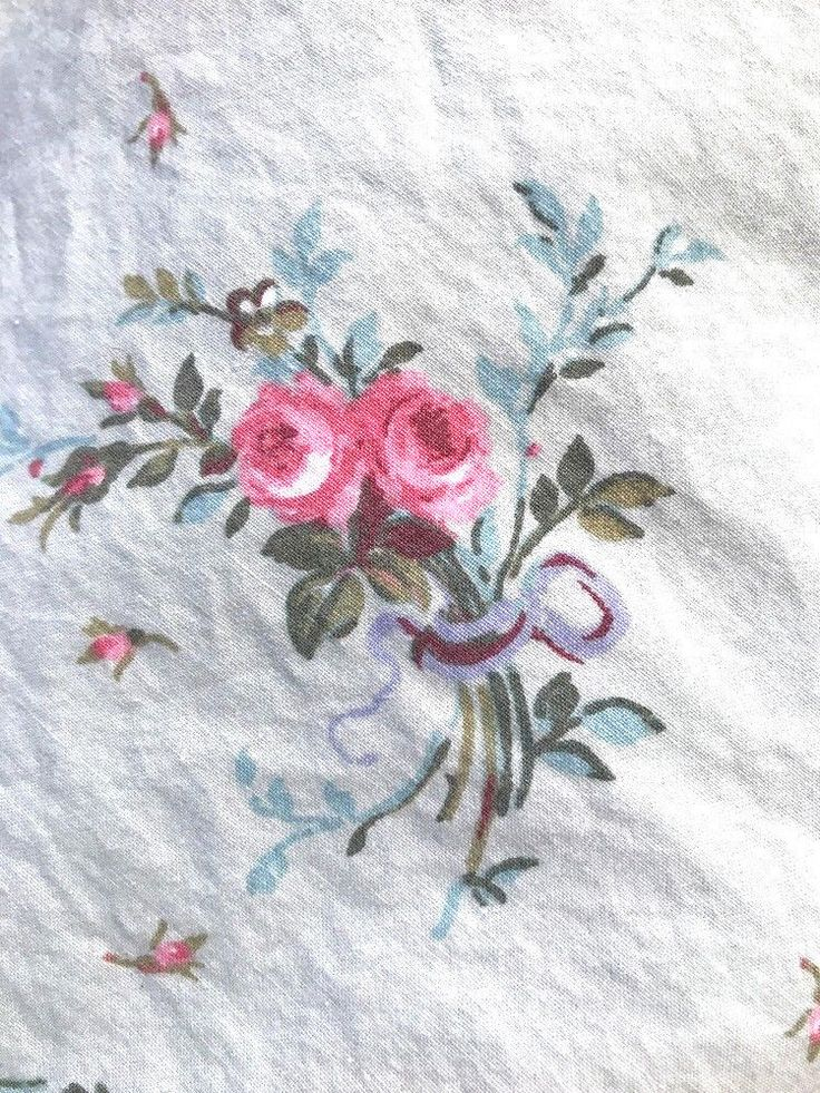 ralph lauren pink roses green full double flat sheet french cottage chic ralphlauren cottage