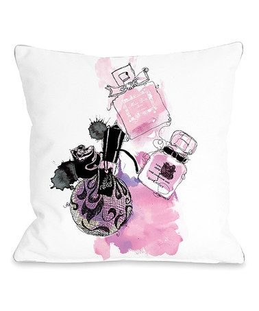Another great find on #zulily! Pink Perfumes Throw Pillow #zulilyfinds