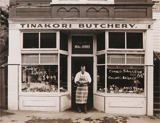 . . . from a time when half a lamb in Thorndon cost 4.49 (Robin Morrison's Tinakori Butchery), image via Webb's