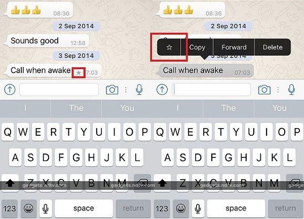 Última actualización de WhatsApp para iOS permite resaltar mensajes
