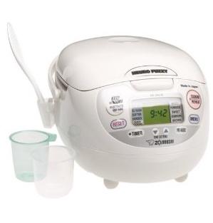 Neuro Fuzzy Rice Cooker - $159.99 Zojirushi NS-ZCC10 5.5 cup Neuro Fuzzy Rice Cooker and Warmer In Premium White