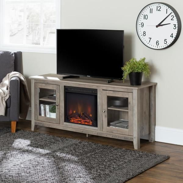 Walker Edison Furniture Company 58 In Wood Media Tv Stand Console