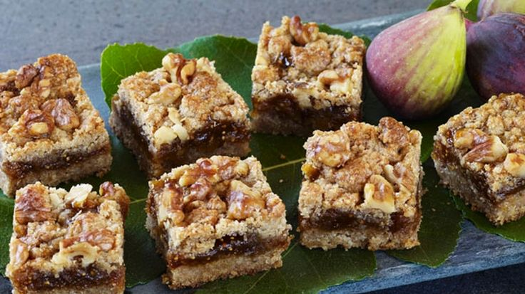 Whole-Wheat Walnut Fig Squares - California Walnuts