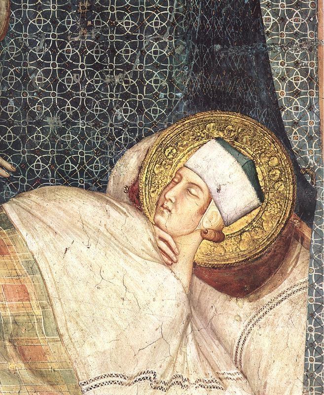 Simone Martini  (1285 -1344) - The Dream of Saint Martin,detail - 1312/17. Fresco, Cappella di San Martino, Lower Church, San Francesco, Assisi.