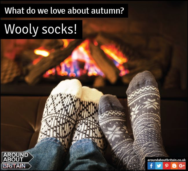 What do we love about Autumn? Wooly socks! Keep warm this Autumn with a pair of wooly warm socks. #Wool #Warm #Autumn #Socks #Britain