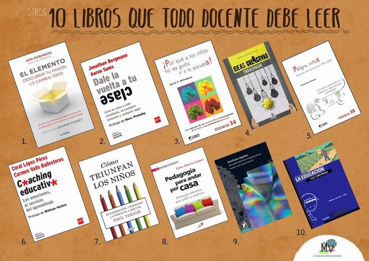 EL BLOG DE MANU VELASCO: OTROS 10 LIBROS QUE TODO DOCENTE DEBE LEER