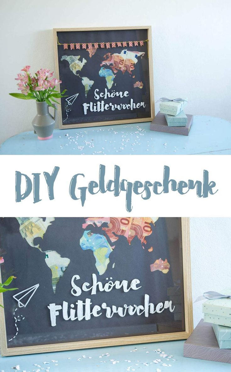 DIY Geldgeschenk zur Hochzeit schön verpacken – kreativfieber – DIY Ideen, DIY Geschenke und Rezepte