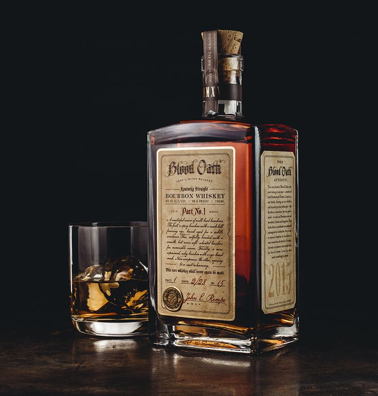 Blood Oath Bourbon: Brand & Package design by David Cole Creative, http://www.davidcolecreative.com Photos by LookatLao Studio, http://www.lookatlao.com