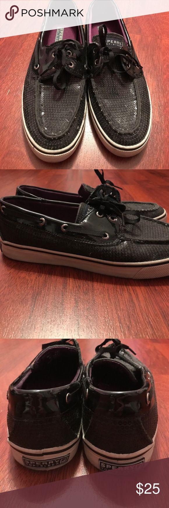 BLACK SPERRY SNEAKERS👟 Black Sperry Top Spider Sneakers *Great Condition!!* Sperry Top-Sider Shoes Sneakers