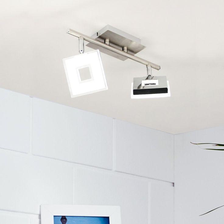 SKAPETZE   Sempre Cube / LED 2er Spot Drehbar / Chrom Innenleuchten  Deckenleuchten