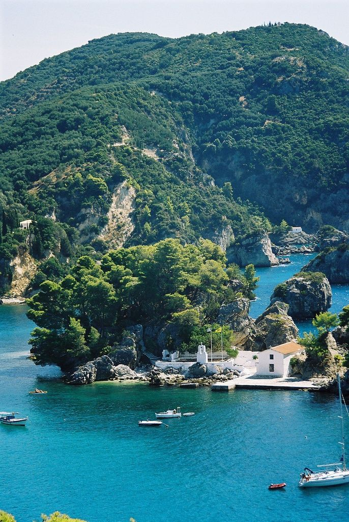 cool island in the ancient civilization paradise of olympian gods, Parga, Greece