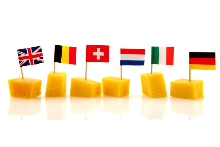 Too cute   We could do a cheese tray and have William make some flags to represent the countries.