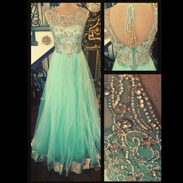 Don't really like the border on the bottom of the dress but the rest is gorgeous! Tiffany theme