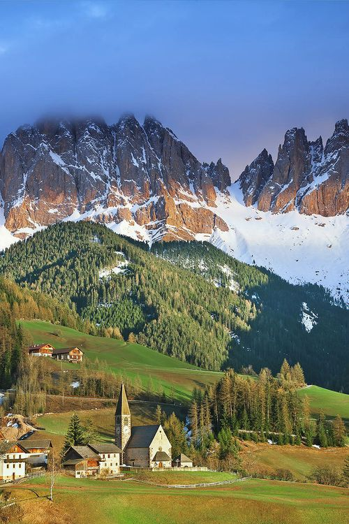 The village of Santa Maddalena Alta - Val di Funes, Dolomites, Italy  (by rudi1976 on 500px)