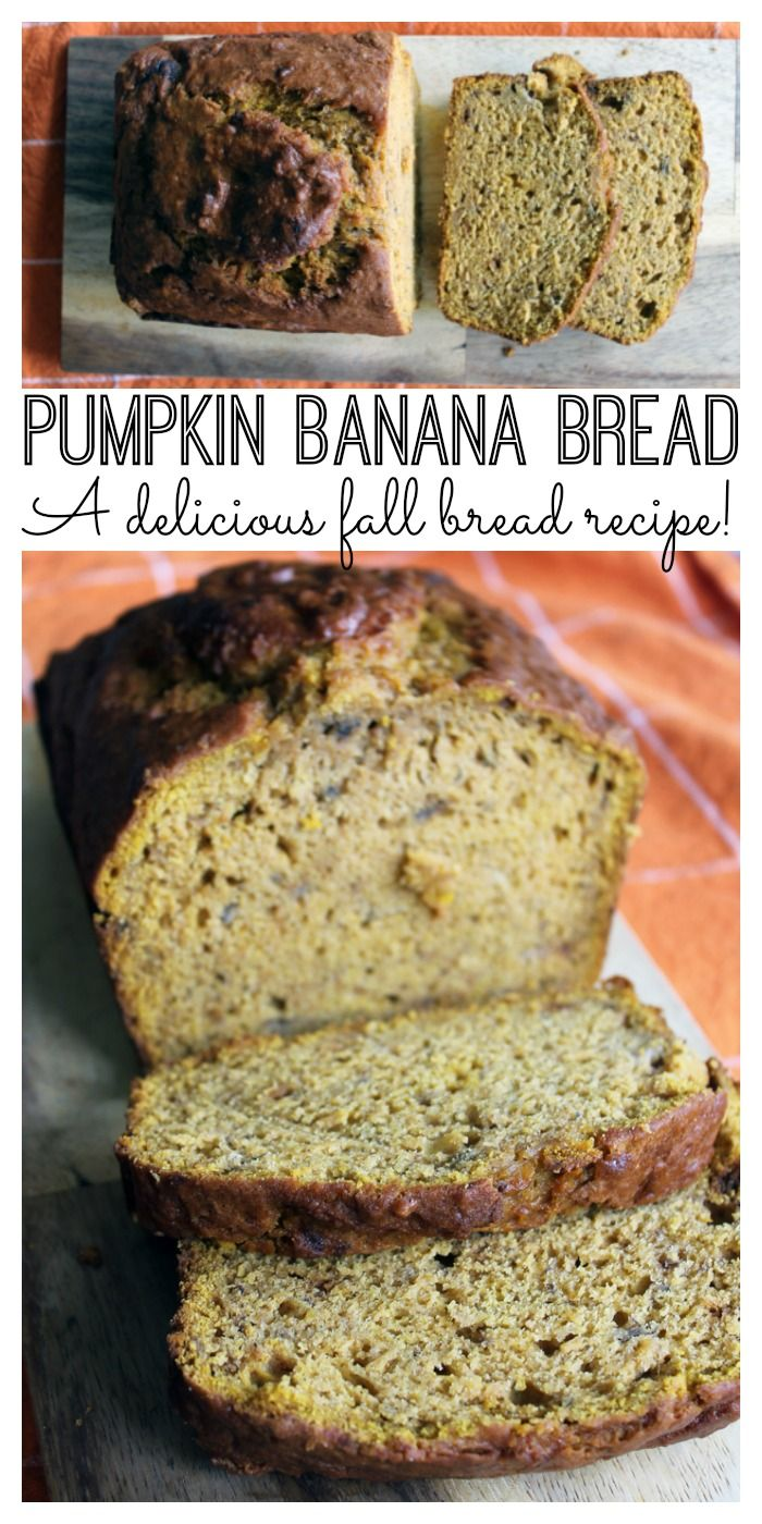 This pumpkin banana bread recipe is perfect for fall!