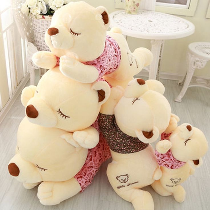 (36.43$)  Watch here - http://aicug.worlditems.win/all/product.php?id=32801584351 - Cute Animal Soft Stuffed Plush Toys Pluche Stuffe Speelgoed Valentine Gift For Girlfriend Giant Bear Stuffed Animals Kids 80C345