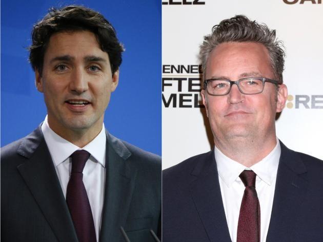 """""""Friends""""-Star Matthew Perry hat einst Kanadas Premierminister Justin Trudeau vermöbelt. Dieser fordert nun eine Revanche…"""