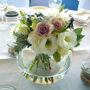 Medium fishbowl vase - imagine similar but with pale pinks, whites and lilacs