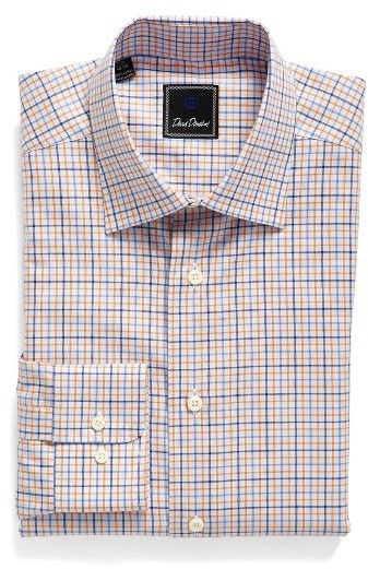 Men's David Donahue Regular Fit Check Dress Shirt