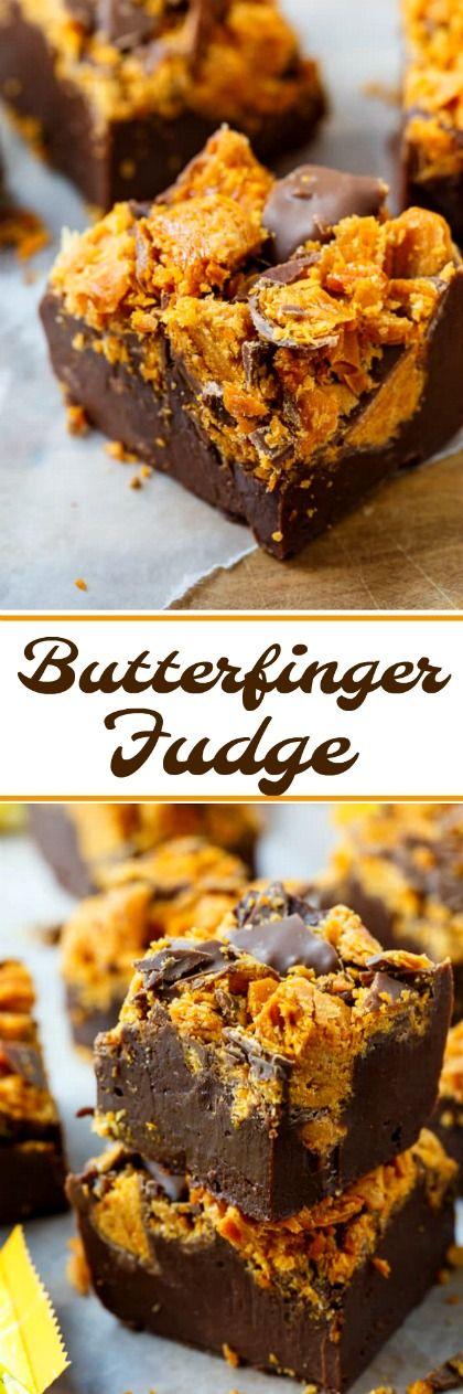Butterfinger Fudge    Posted By: DebbieNet.com