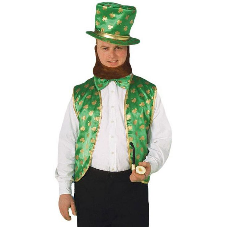 Adult Leprechaun Costume Kit, Men's, Green