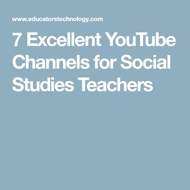7 Excellent YouTube Channels for Social Studies Teachers