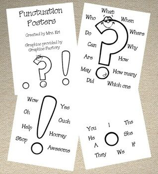 Basic Punctuation Posters - Mrs. Eri - TeachersPayTeachers.com