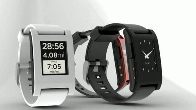Smarte Armbanduhr mit E-Ink-Display