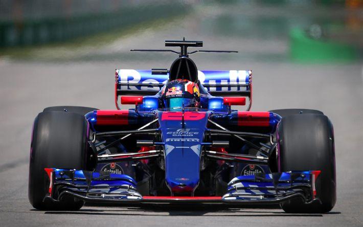 Download imagens Daniil Kvyat, os pilotos de corrida, Toro Rosso STR12, 2017 carros, Fórmula 1, F1, A Scuderia Toro Rosso