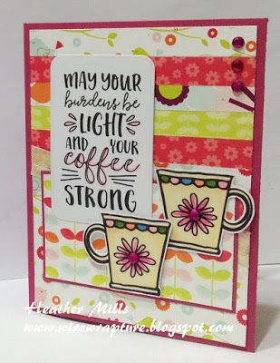 Handmade card by Heather Mills using the Rise and Shine digital set from Verve. #vervestamps
