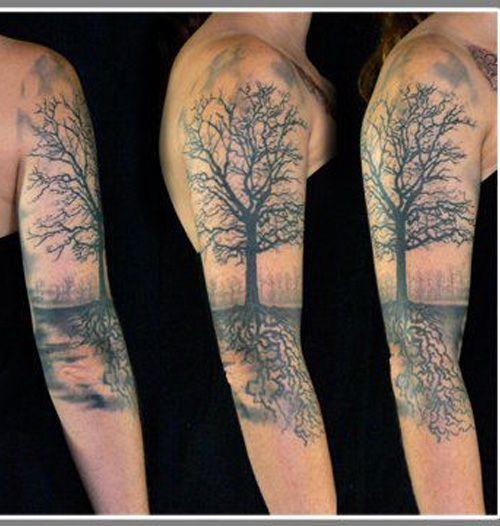 New Tree Tattoo Design for Sleeve for Men