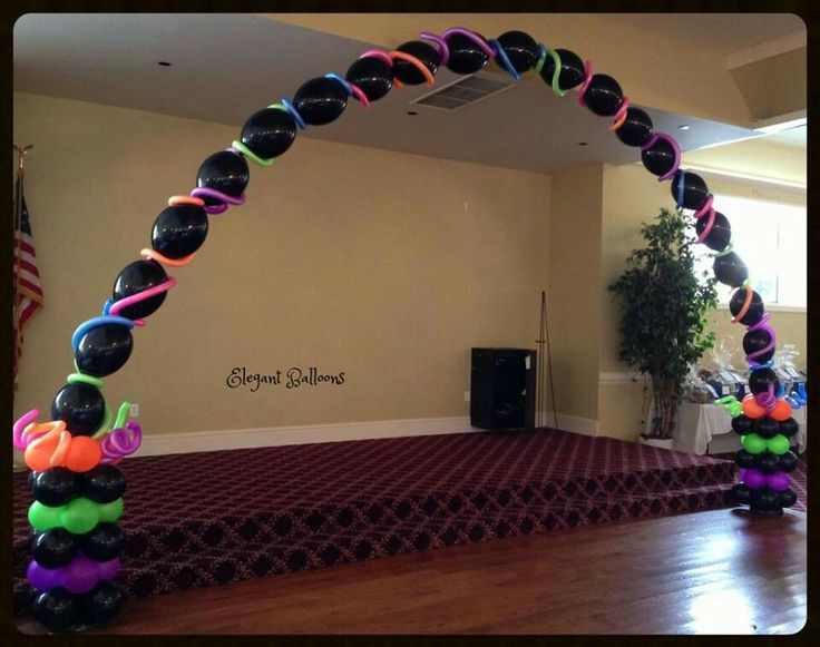 Nice & Easy LINK-O-LOON balloon Arch with Neons