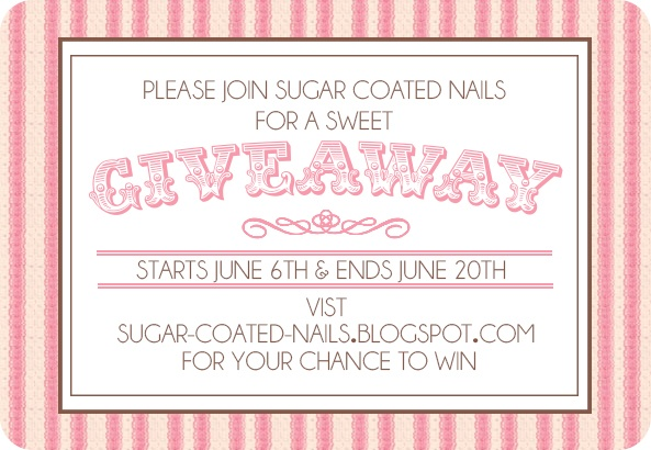 Sugar Coated Nails First Giveaway!