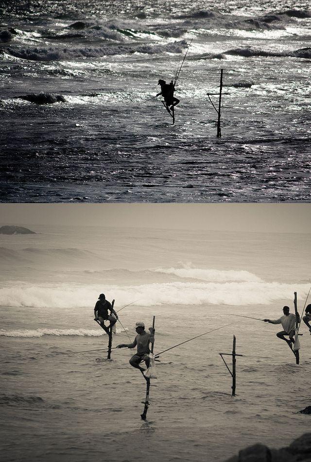 Stilt Fishermen, South Sri Lanka