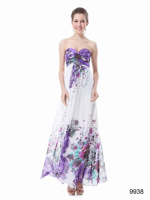 シフォン&サテン素材! ホワイトMaxiロングドレス♪  - ロングドレス・パーティードレスはGN|演奏会や結婚式に大活躍!