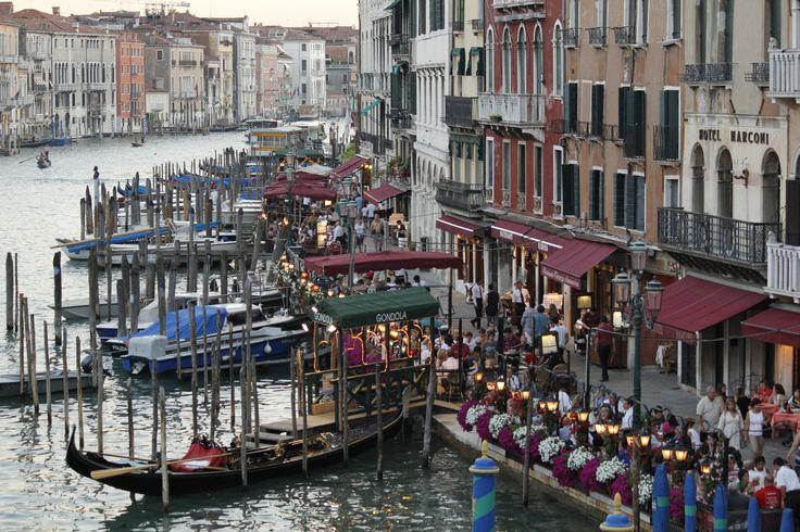 Venice, Italy...gondolas at dusk! Been...