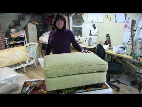 """▶ Upholstery """"How To Reupholster A Pillowtop Ottoman"""" - YouTube"""