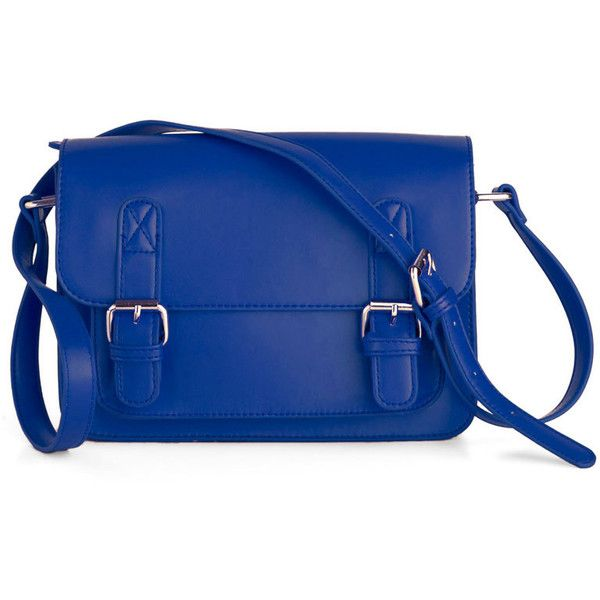 In So Mini Words Bag in Blue ($60) ❤ liked on Polyvore
