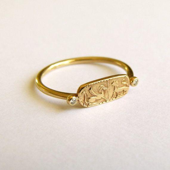 Chevalière or - bague de Lion d'or - or massif 18 carats