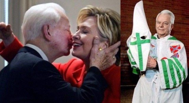 """OOPS! Did The Media Think Voters Would Forget About HILLARY'S """"FRIEND and MENTOR"""" Late KKK Leader Robert Byrd?"""